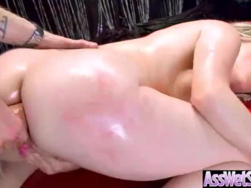 Oiled huge butt girl (courtney cummz) love deep anal hard sex video-10